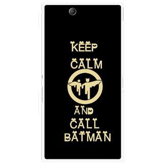 Snooky Printed Keep Calm Mobile Back Cover For Sony Xperia Z Ultra - Black