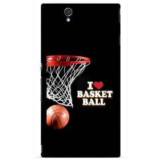 Snooky Printed Love Basket Ball Mobile Back Cover For Sony Xperia Z - Multicolour