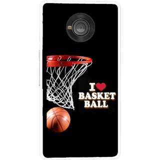 Snooky Printed Love Basket Ball Mobile Back Cover For Micromax Yu Yuphoria - Multicolour