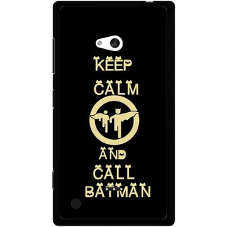 Snooky Printed Keep Calm Mobile Back Cover For Nokia Lumia 720 - Black