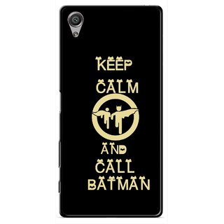 Snooky Printed Keep Calm Mobile Back Cover For Sony Xperia X - Black