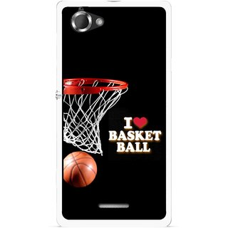 Snooky Printed Love Basket Ball Mobile Back Cover For Sony Xperia L - Multicolour