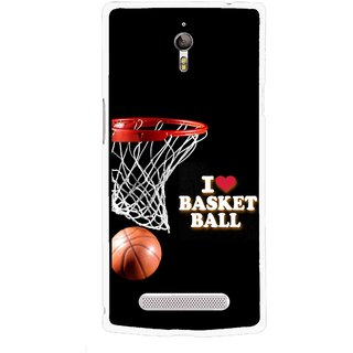 Snooky Printed Love Basket Ball Mobile Back Cover For Oppo Find 7 - Multicolour