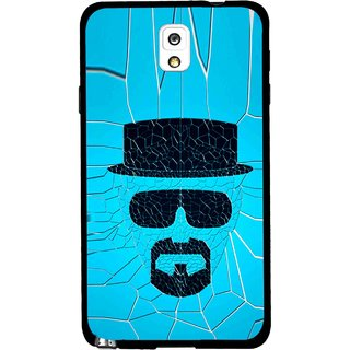 Snooky Printed Beard Man Mobile Back Cover For Samsung Galaxy Note 3 - Blue