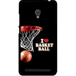 Snooky Printed Love Basket Ball Mobile Back Cover For Asus Zenfone Go ZC451TG - Multicolour