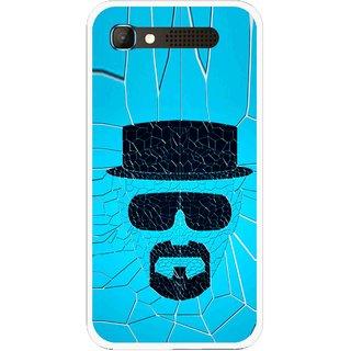 Snooky Printed Beard Man Mobile Back Cover For Intex Aqua Y2 Pro - Blue