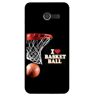 Snooky Printed Love Basket Ball Mobile Back Cover For Asus Zenfone 4 - Multicolour