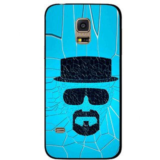 Snooky Printed Beard Man Mobile Back Cover For Samsung Galaxy S5 Mini - Blue