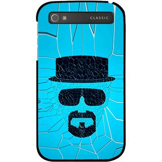 Snooky Printed Beard Man Mobile Back Cover For Blackberry Classic - Blue