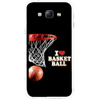 Snooky Printed Love Basket Ball Mobile Back Cover For Samsung Galaxy A8 - Multicolour