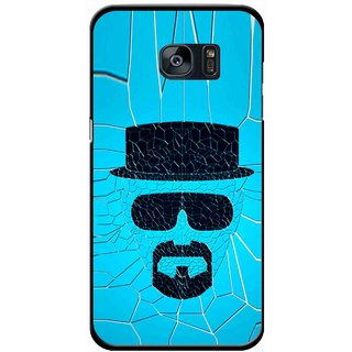 Snooky Printed Beard Man Mobile Back Cover For Samsung Galaxy S7 - Blue