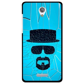 Snooky Printed Beard Man Mobile Back Cover For Gionee Marathon M4 - Blue