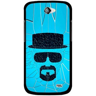 Snooky Printed Beard Man Mobile Back Cover For Gionee Pioneer P2 - Blue