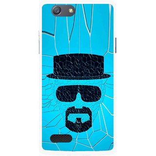 Snooky Printed Beard Man Mobile Back Cover For Oppo Neo 7 - Blue