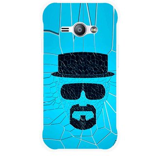Snooky Printed Beard Man Mobile Back Cover For Samsung Galaxy Ace J1 - Blue