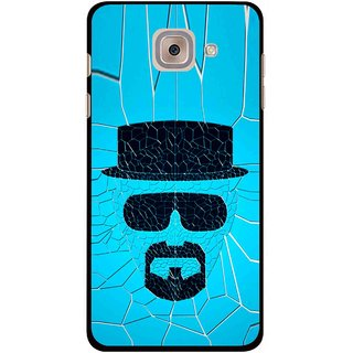 Snooky Printed Beard Man Mobile Back Cover For Samsung Galaxy J7 Max - Blue