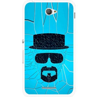 Snooky Printed Beard Man Mobile Back Cover For Sony Xperia E4 - Blue