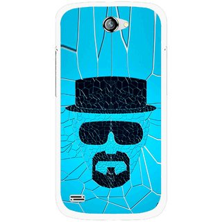Snooky Printed Beard Man Mobile Back Cover For Gionee Pioneer P3 - Blue