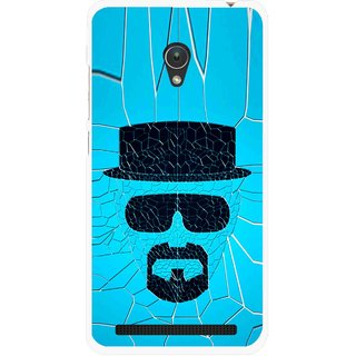 Snooky Printed Beard Man Mobile Back Cover For Asus Zenfone Go ZC451TG - Blue