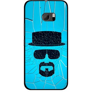 Snooky Printed Beard Man Mobile Back Cover For HTC One M10 - Blue