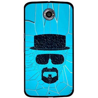 Snooky Printed Beard Man Mobile Back Cover For Motorola Nexus 6 - Blue