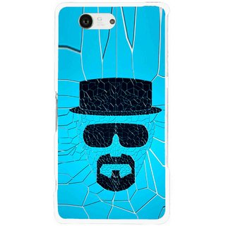 Snooky Printed Beard Man Mobile Back Cover For Sony Xperia Z3 Compact - Blue