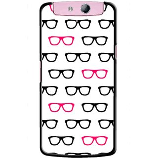 Snooky Printed Spectacles Mobile Back Cover For Oppo N1 Mini - Multi
