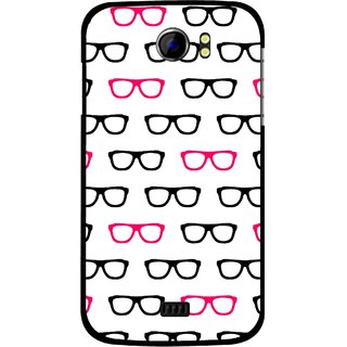 Snooky Printed Spectacles Mobile Back Cover For Micromax Canvas 2 A110 - Multi