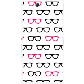 Snooky Printed Spectacles Mobile Back Cover For Sony Xperia Z Ultra - Multi