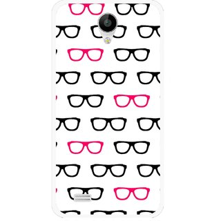 Snooky Printed Spectacles Mobile Back Cover For Vivo Y22 - Multi