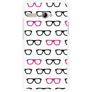 Snooky Printed Spectacles Mobile Back Cover For Intex Aqua 3G Pro - Multi