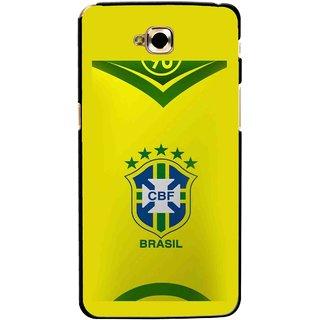 Snooky Printed Brasil Mobile Back Cover For Lg G Pro Lite - Multicolour