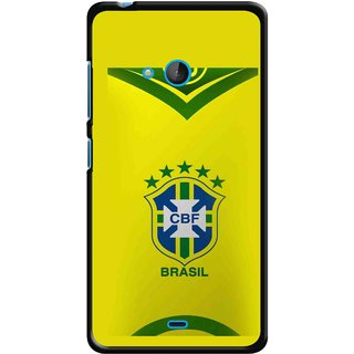 Snooky Printed Brasil Mobile Back Cover For Nokia Lumia 540 - Multicolour