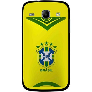 Snooky Printed Brasil Mobile Back Cover For Samsung Galaxy Core - Multicolour