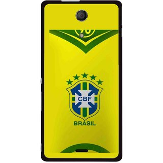 Snooky Printed Brasil Mobile Back Cover For Sony Xperia ZR - Multicolour