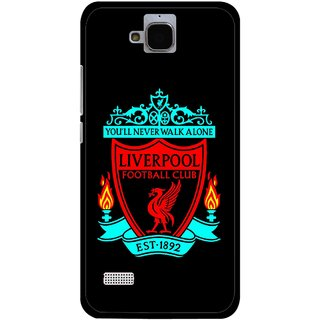 Snooky Printed Football Club Mobile Back Cover For Huawei Honor Holly - Black