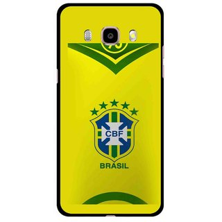 Snooky Printed Brasil Mobile Back Cover For Samsung Galaxy J5 (2016) - Multicolour