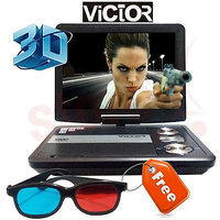 Victor 7.8 Inches 3D Portable DVD Player With USB And SD Card