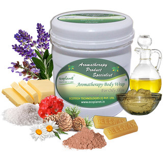 ecoplanet Aromatherapy Body Wrap For Oily Skin 1 Kg Oil Control and Detoxifying