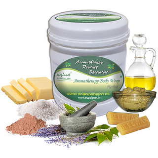 ecoplanet Aromatherapy Body Wrap Herbal Skin 1 Kg Tightening and Detoxifying