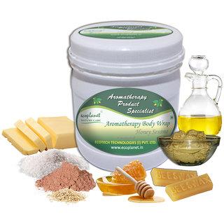 ecoplanet Aromatherapy Body Wrap Honey Sesame 1 Kg Gentle Exfoliating for Silky Soft Skin