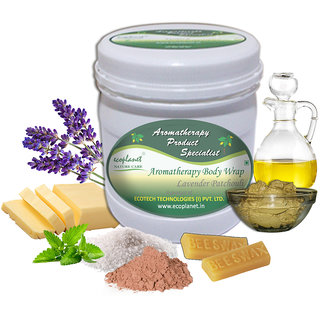 ecoplanet Aromatherapy Body Wrap Lavender Patchouli 1 Kg Skin Glowing and Moisturizing