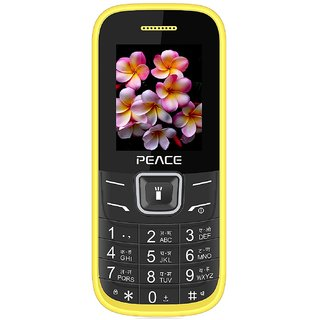 PEACE FM 1 DUAL SIM 1.8 INCH DISPLAY 850mAh BATTERY WIRELESS FM (BIS AND SAR CERTIFIED)