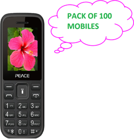 PEACE P1 (PACK OF 100 ASSORTED COLOR) DUAL SIM 1.8 INCH