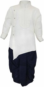 Tumble Cream Full Sleeves Kurta  Dhoti Set
