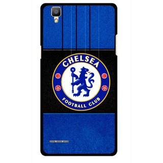 Snooky Printed FootBall Club Mobile Back Cover For Oppo F1 - Multi