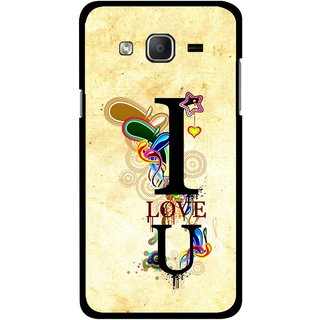 Snooky Printed Love You Mobile Back Cover For Samsung Galaxy On5 - Yellow