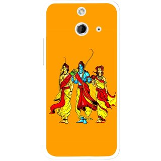 Snooky Printed God Rama Mobile Back Cover For HTC One E8 - Multicolour