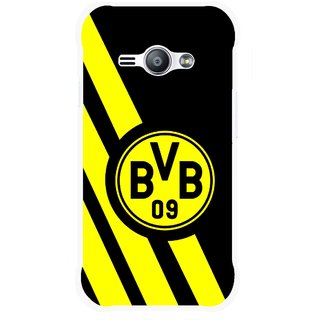Snooky Printed Sports Logo Mobile Back Cover For Samsung Galaxy Ace J1 - Black