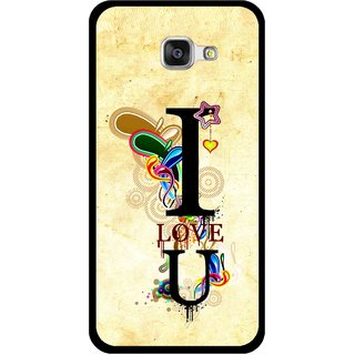Snooky Printed Love You Mobile Back Cover For Samsung Galaxy A3 (2016) - Yellow